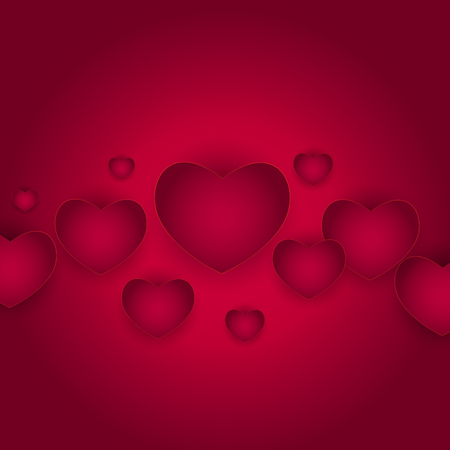 Valentine S Day Heart Symbol Love And Feelings Background Design
