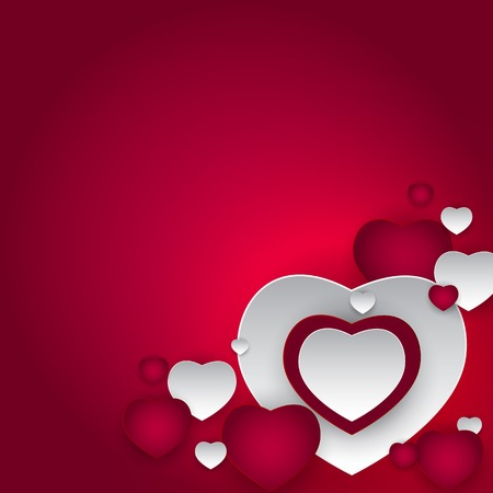 Valentine s Day Heart Symbol. Love and Feelings Background Design Illustration