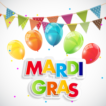 Mardi Gras Party Holiday Poster Background.