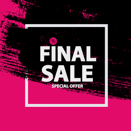 black and pink: Abstract Brush Stroke Designs Final Sale in Black, Pink