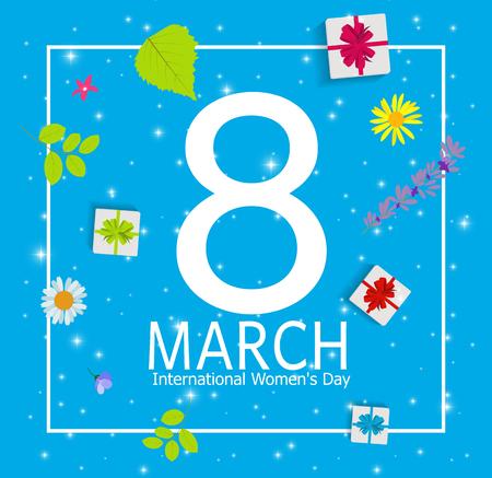 greeting cards International Women s Day: Women s Day Greeting Card 8 March Illustration