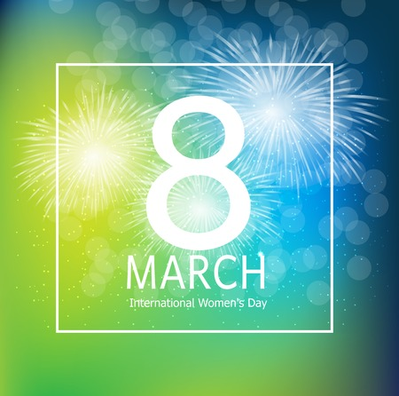 Women s Day Greeting Card 8 March Illustration