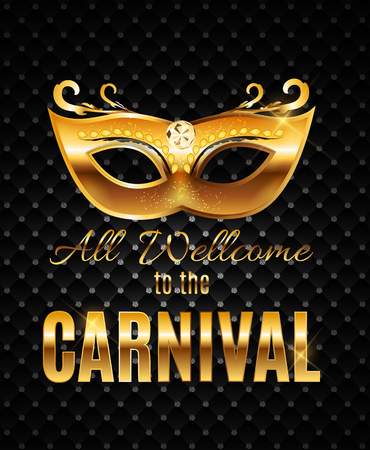 new orleans: Carnival Party Mask Holiday Poster Background. Vector Illustrati Stock Photo