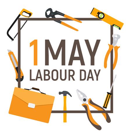 1 Mai Labor Day Poster oder Banner. Vektorgrafik