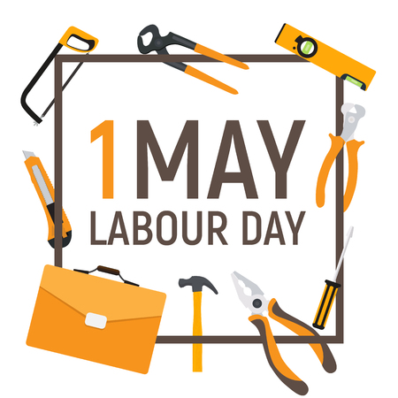 1 May Labour Day Poster or Banner.
