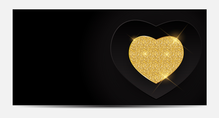 Gift Voucher Template For Your Business. Valentines Day Heart C Ilustrace