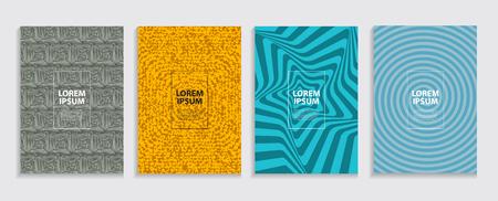 Simple Minimal Covers Template Design. Future Geometric Pattern. Vector Illustration EPS10