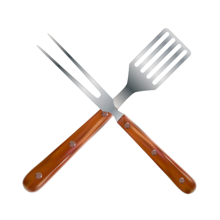 BBQ and Grill Tools. Vector Illustration Stock Photo