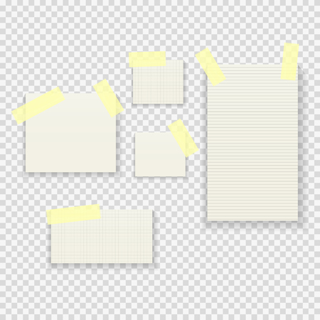 Sticky Paper Notes Pack Collection Set on Transparent Background  Vector Illustration Stock Photo