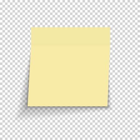 Plakpapier Opmerking Op Transparante Achtergrond Vectorillustratie