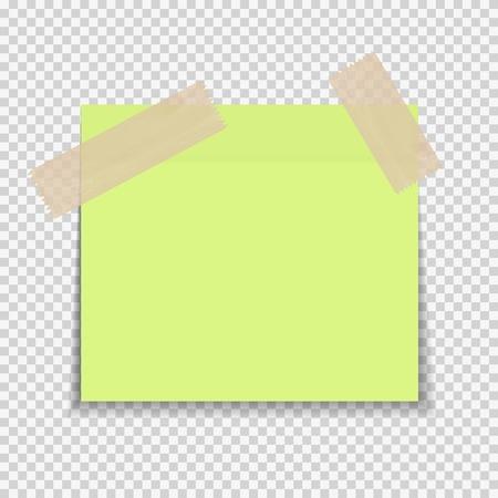 透明な背景のベクトル図に付箋紙メモ