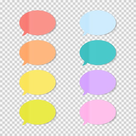 postit note: Sticky Office Paper Sheets Notes, Speech Bubble Sign Pack Collection Set with Shadow Isolated on Transparent Background Vector Illustration EPS10 Illustration
