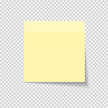Sticky Paper Note on Transparent Background  Vector Illustration EPS10 Vectores