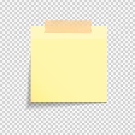 Note de papier collant sur fond transparent Vector Illustration Eps10