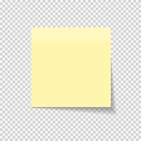 Plakpapier Opmerking Op Transparante Achtergrond Vectorillustratie Stockfoto