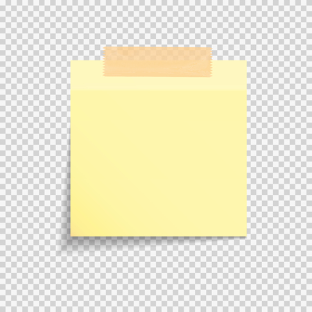 Sticky Paper Note on Transparent Background  Vector Illustration