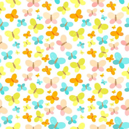 Eine Schmetterlings-nahtlose Muster-Hintergrund-Vektor-Illustration. Vektorgrafik