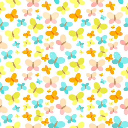 A butterfly Seamless Pattern Background Vector Illustration.