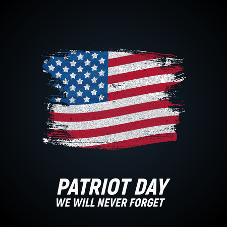 9.11 Patriot Day background We Will Never Forget Poster Template Vector illustration Illustration