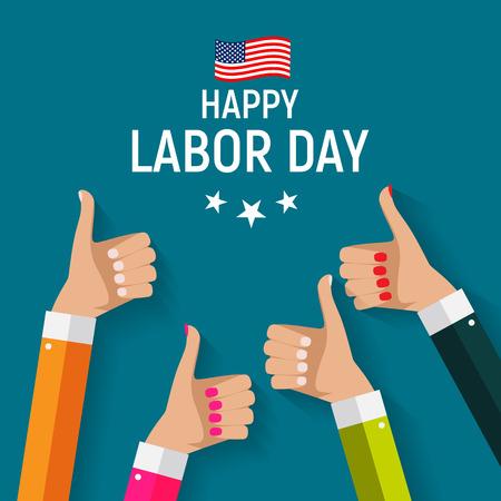 Día del Trabajo en Estados Unidos Poster Background. Ilustración vectorial Foto de archivo - 84625231
