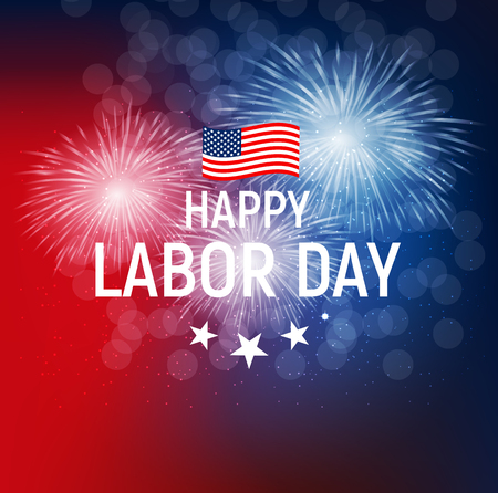 Labor Day in USA Poster Background. Vector Illustration Çizim