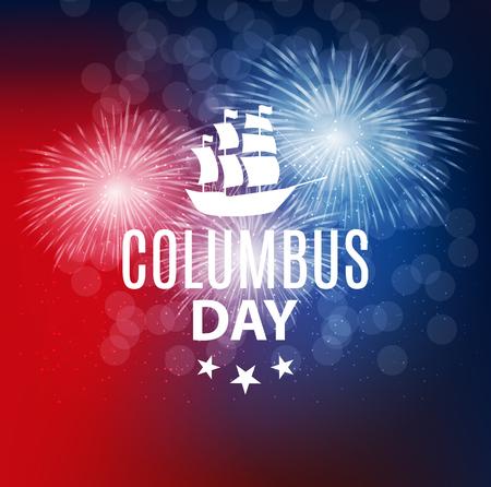콜럼버스의 날의 벡터 일러스트 레이션