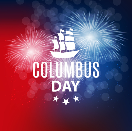 Vector Illustration of Columbus Day Ilustrace