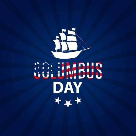 Vector Illustration of Columbus Day Illustration