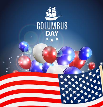 voyager: Vector Illustration of Columbus Day Illustration