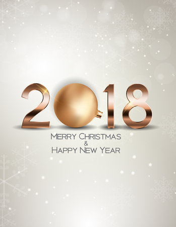 abstract beauty christmas and 2018 new year background vector illustration stock vector 87350271