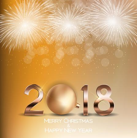 swirl: 2018 New Year with Christmas Ball