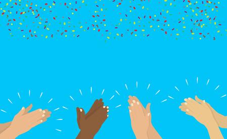 Hands clapping vector Illustration. 版權商用圖片 - 88681052