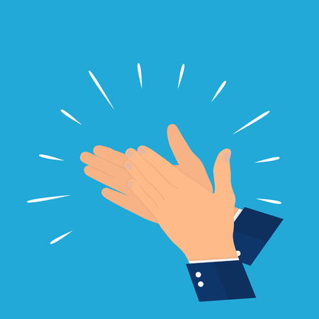 Hands clapping vector Illustration.