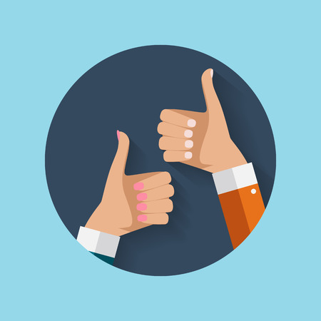 Thumbs Up Icon vector Illustration.