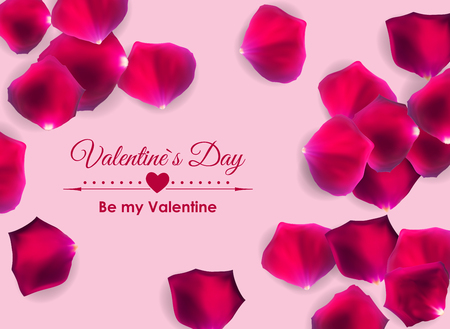 Valentines Day Love and Feelings Background Design. Vector illustration EPS10