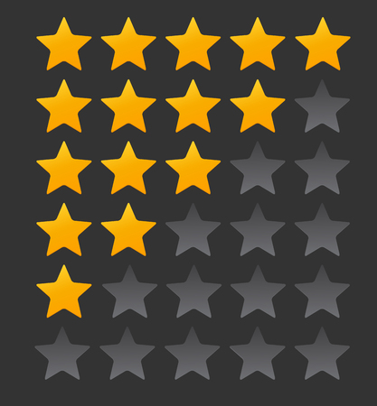 Star Rating.  Evaluation System and Positive Review Sign. Vector Illustration EPS10