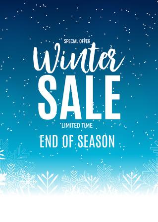 Sfondo di vendita di fine inverno, modello del buono sconto. Illustrazione vettoriale Archivio Fotografico - 92641680
