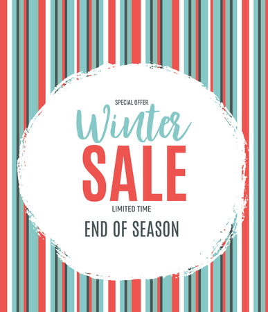 End of Winter Sale Background, Discount Coupon Template. Vector Illustration Illustration