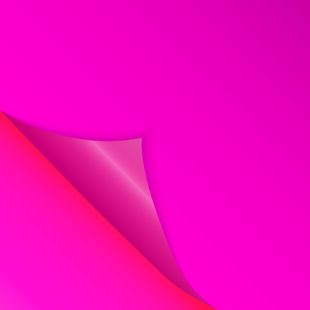 Pattern of bent corner for free filling of pink color. Vector Illustration. EPS10