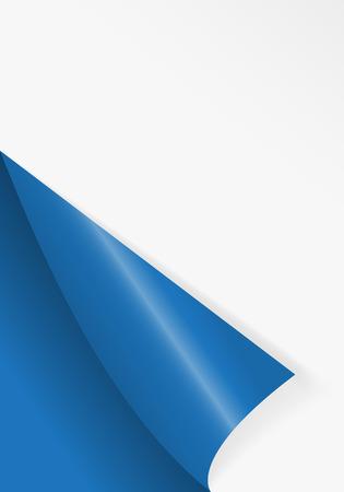 Pattern of bent corner for free filling of blue color. Vector Illustration.