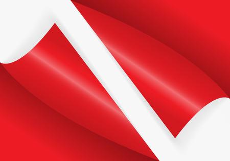 赤い色の自由な充填のための曲がったコーナーのパターン。ベクトルイラストレーション。  イラスト・ベクター素材