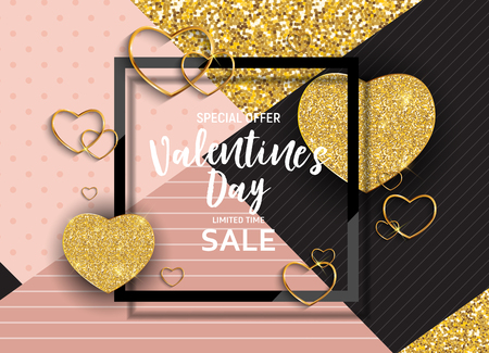Valentines Day Love and Feelings Sale Background Design.