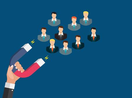 ハンドホールドマグネットのビジネスコンセプトは、顧客を引き付けます