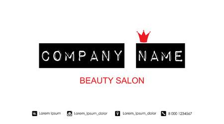 Beauty salon business card template vector illustration royalty beauty salon business card template vector illustration stock vector 94989783 accmission Choice Image