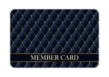 luxury members, gift card template for your business vector illustration. Stock Illustratie