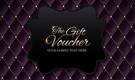 Luxury members, gift card template for your business vector illustration. Vectores