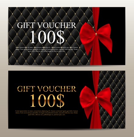 Luxury members, gift card template for your business vector illustration. Vettoriali