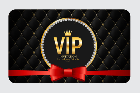 Luxury Members, Gift Card Template for your Business Vector Illustration