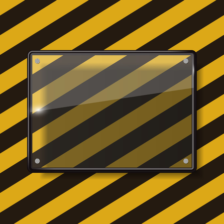 Glass Transparency Frame Vector Illustration