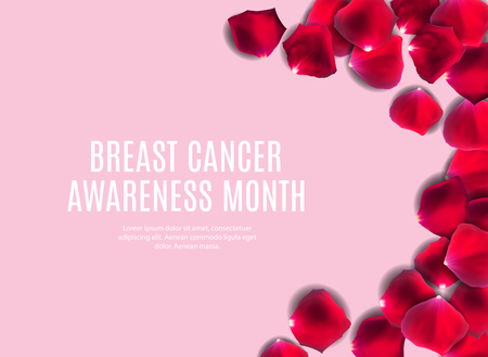 Breast Cancer Awareness Month Pink Ribbon Background Vector Illustration